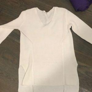 athleta white sweater